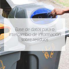 Base de datos para o intercambio de información sobre residuos